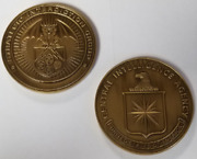 Cia Central Intelligence Agency Sig Strategic Interdiction Antique Gold 3 Coin