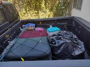 Cargo Net Bed Tie Down Hooks For Nissan Frontier Mid Size Short Bed 60x74 New