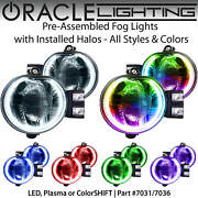 Oracle Pre-assembled Halo Fog Lights For 02-08 Dodge Ram And 04-06 Durango Colors