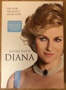 Naomi Watts Diana Dvd With 16-page Diana Fashion Booklet