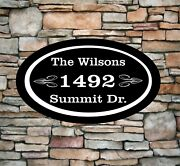 Personalized Home Address Sign Aluminum 12 X 7 Custom House Number Plaque Ov1