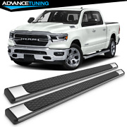 Fits 19-21 Ram 1500 Crew Cab Oe Style Chrome Ss 82inch Side Rails Running Boards