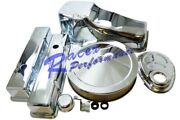 80-85 Chrome Sbc Small Block Chevy Dress Up Kit Tall Valve Cover Air Cleaner Rod