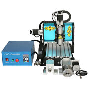 Ston 110v 800w 4 Axis Cnc 3020 Router Engraving Milling Machine Usb Port