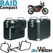 Pair Suitcases Aluminum Compact 33+ 39 L And Frames Ktm 1190 Adv Abs And039 13and039/14