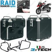 Pair Suitcases Aluminum Quick Release 41 +47 Frames Bmw 1200 R Gs K50and039 13and039/14