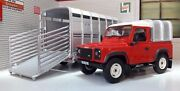 132 Land Rover Defender Britains 90 And Ifor Williams Sheep Trailer Scale Model