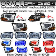 Oracle Halo Non-sport Headlights And Horizontal Fog Lights For 09-12 Dodge Ram