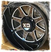 20 X10 Gloss Milled Kmc Xd844 Pike Wheels Fits Ford F250 F350 Excursion 8x170