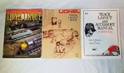 Classic Lionel Track Layout Books - 1975, Ruocchio And Klein 1979, Trzoniec 1994