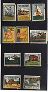 1939 New York Worlds Fair Stamp Label Set Suffolk County Complete - Rare - Set A