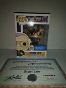 Stan Lee Gurdian Of The Galaxy Autograph Funko Pop With Certificate