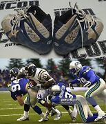 Ladainian Tomlinson Signed 2001 Chargers Football Game Worn Used Cleats Bas Coa