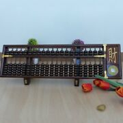 Handmade L32 Chinese Compass Abacus 21 Column 147 Count Beads Steamed Beech637