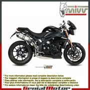 Mivv Approved Exhaust Mufflers Speed Edge High Triumph Speed Triple 2011 2015