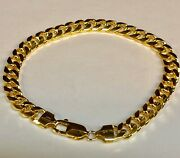 14k Solid Yellow Gold Miami Cuban Curb Link Chain/bracelet 7 20 Grams 6.7mm