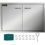 """33"""" Stainless Steel Double Access Bbq Door Storage 33x22inch Concealed Hinges"""