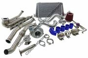 Top Mount Gt35 Turbo Kit For 92-98 Bmw E36 6 Cyl Manifold Intercooler