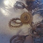 Large Vintage Victorian Hair Wreath In Shadow Box Mourning Remembrance Art