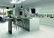 Vivo Gloss Light Grey Slab Complete Kitchen Cabinets Units Cupboards With Doors
