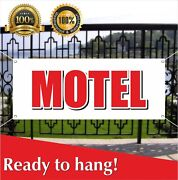 Motel Banner Vinyl / Mesh Banner Sign Hotel Wi-fi Open 24 Hours Store Now Open