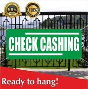 Check Cashing Banner Vinyl / Mesh Banner Sign Payday Loans Pawn Shop Store