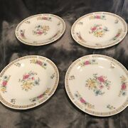 4 Of The 7.5 Salad Plates By Liling Fine China- Yung Shen Floral Pattern
