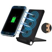 10w Fast Charge Wireless Charger Folding Pad [3-coils] Stand K79 For Smartphones