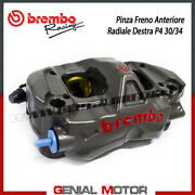 Radial Rear Brake Caliper Brembo Racing Right Monobloc Cnc P4-30/34 Without Pad