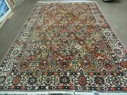 7' X 10' Antique Hand Made Indian Wool Rug Floral Oriental Carpet Tribal Nice