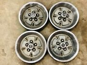 71 72 73 Ford Mustang 4 X14 Inch Hubcaps Used