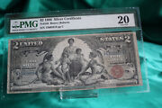 1896 2 Silver Certificate Pmg Vf20 Fr248 Education Note. Bruce/roberts