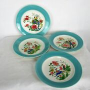 Birds Of Paradise Plates Boch La Louviere 4 Plates Two Couples Hand Painted
