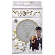 Harry Potter Official Silver Plated Deathly Hallows Earring And Necklace Set