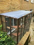 Catio / Cat Lean To 8ft X 4ft X 7.5ft Secure Safe Garden Pet Run And Accessories