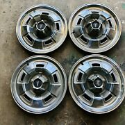 4 67 68 69 Plymouth Mag Hub Caps 14 Wheel Covers 1967 1968 1969 Hubcaps
