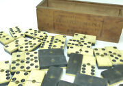 Domino Game In Wooden Box About 1900