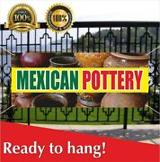Mexican Pottery Banner Vinyl / Mesh Banner Sign Tableware Things Furniture