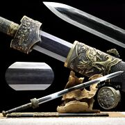 Chief Battle Sword Multiple-refined Folded Pattern Steel Clay Tempered Sharp696