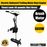 Electric Outboard Trolling Motor 65 Lbs Thrust 12v 660w Power Boat Engine Usa