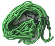 Race-driven Motorcycle Atv Cargo Net 15 X 15 Inch With 6 Hooks Mesh Web - Green