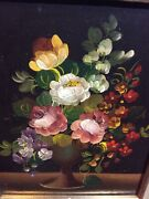Vito Ruggeriandrsquos Original Oil Painting Bouquet Of Flowers Signed By The Artist.
