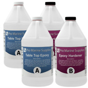 Crystal Clear Bar Table Top Epoxy Resin Coating For Wood Tabletop - 4 Gallon Kit