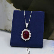 14kt White Gold Pendant Of 13.40ct Ruby And 1.50ct Diamonds