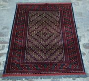 Y624 Best Afghan Turkoman Jewelry Gol Rug Handmade Tribal Vintage Rug 3and0396 X 4and03910
