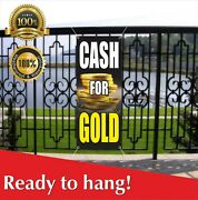 Cash For Gold Banner Vinyl / Mesh Banner Sign Pawn Loan Cashing In Money Silver