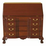 46806ec Biggs Ball And Claw Chippendale Mahogany Slant Front Desk
