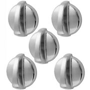 5 Pack Wb03t10284 Fits Ge Range Oven Knob Stainless Steel Ap4346312 Ps2321076