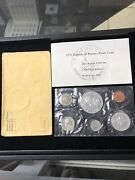 Panama 1970 Proof Set 6 Coins Some Silver With Envelope Us Mint