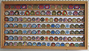 Challenge Coin Display Case Wall Shadow Box Cabinet With Mirror Back Coin4-oa
